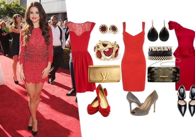 Image result for маленькое красное платье новый год